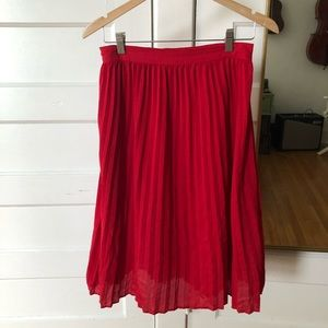 a new day red pleated skirt